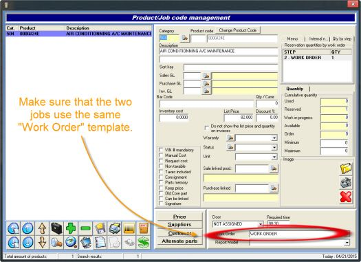 jobs from one estimate printing on different work orders