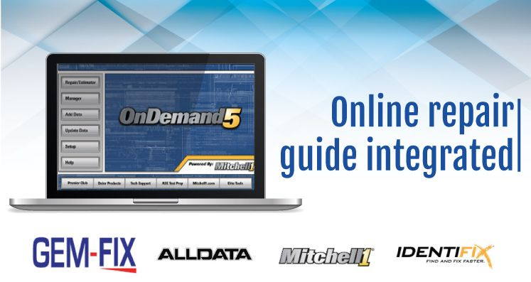 Mitchell, alldata and Identifix software integration