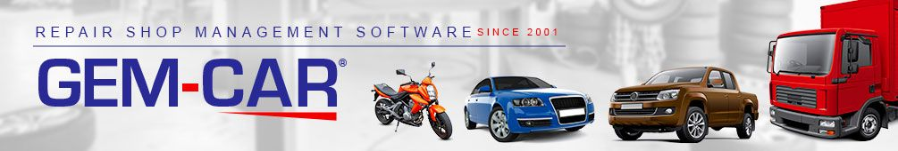 GEM-CAR software for auto repair shop | Car and fleet management